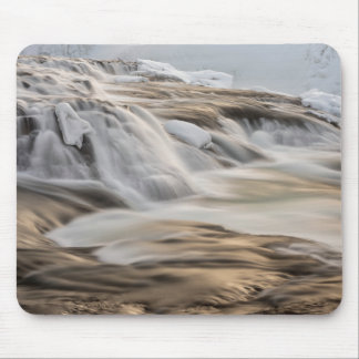 Godafoss waterfall, winter, Iceland Mouse Pad