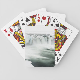 Godafoss waterfall, winter, Iceland Playing Cards