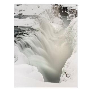 Godafoss waterfall, winter, Iceland Postcard