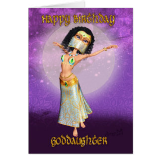 Goddaughter Birthday Card With Cute Dancer