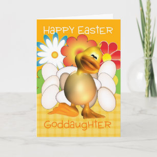 Goddaughter happy easter gifts on zazzle ca goddaughter easter card with chick eggs and bright negle Gallery