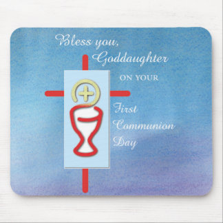 Goddaughter, First Holy Communion, Turquoise Mouse Pad