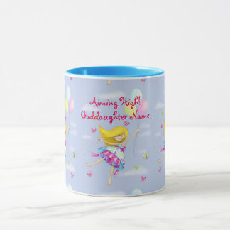 Goddaughter Gift Girly Motivational Personalized Mug