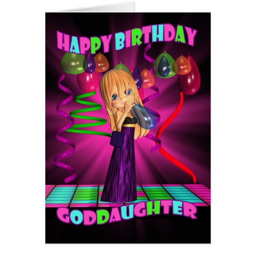Goddaughter Happy Birthday With Cute Little Cutie Greeting