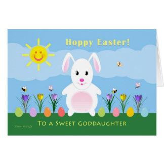 Goddaughter Hoppy Easter - Easter Bunny Card