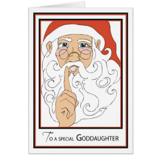 Goddaughter Jolly Old St Nick Card