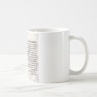Goddaughter Poem - Bible & Flowers Design Coffee Mug