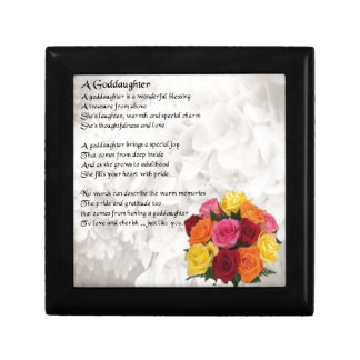 Goddaughter Poem - Flowers Design Gift Box