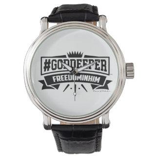 #Goddeeper Freedom In Him ™ Men's Vintage Watch