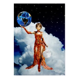 Goddes of Universe Mini Print Large Business Card