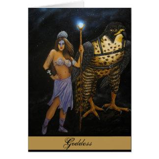 Goddess Acrylic Painting Card