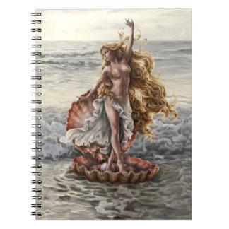 Goddess Aphrodite Notebook by artist Lindsay Arche