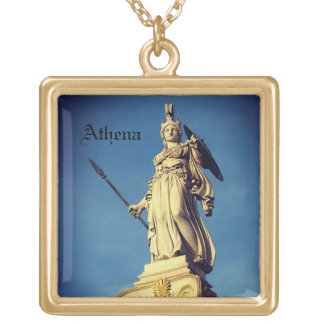 Goddess Athena Greek Goddess Of Wisdom Gold Plated Necklace