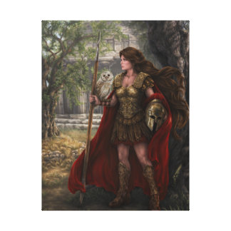 Goddess Athena Stretched Canvas Print