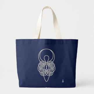 Goddess Black on White Large Tote Bag