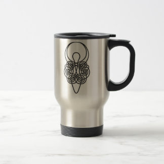 Goddess Black on White Travel Mug