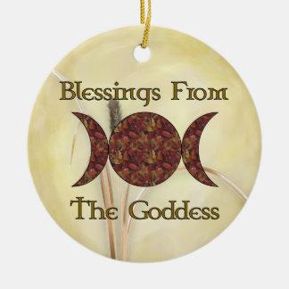 Goddess Blessings Ceramic Ornament