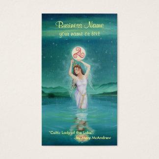 Goddess Business Card / Celtic Lady of Lake