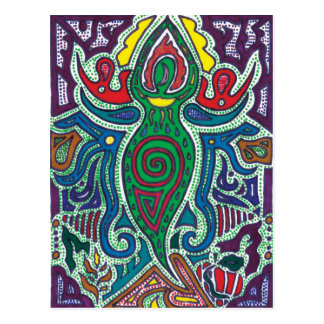 Goddess, Calm in Chaos Postcard