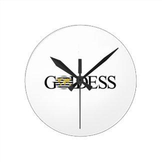 Goddess Chic Travel Collection Round Clock