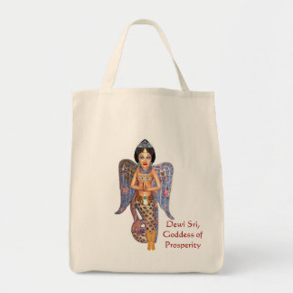 Goddess Dewi Sri Grocery Tote
