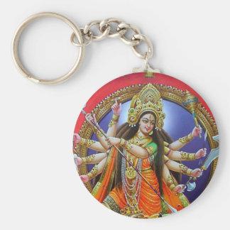 Goddess Durga Basic Round Button Keychain