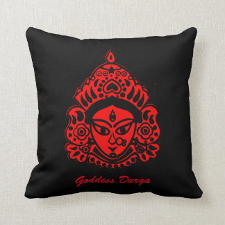 Goddess Durga Black and Red pillow! Throw Pillow