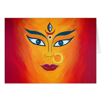 """Goddess Durga"" note card"