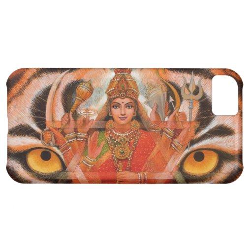 Goddess Durga & Tiger Eyes iPhone 5 Case