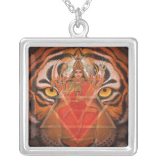 Goddess Durga & Tiger Necklace