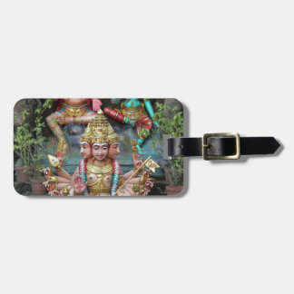 Goddess Durga with Three heads Hindu temple Bag Tag