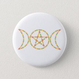 Goddess Flowers Button