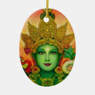 Goddess Green Tara's Face Ornament