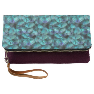 Goddess Isis Blue Feathers Clutch