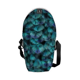 Goddess Isis Blue Feathers Commuter Bags