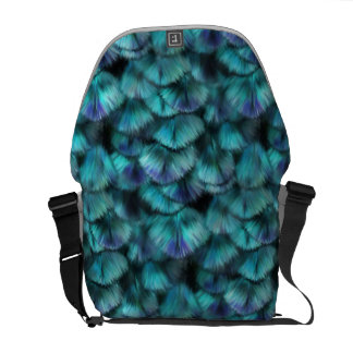 Goddess Isis Blue Feathers Courier Bag