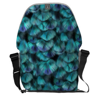 Goddess Isis Blue Feathers Courier Bags