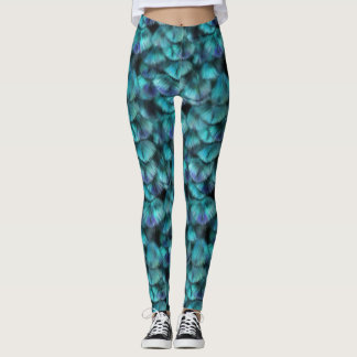 Goddess Isis Blue Feathers Leggings