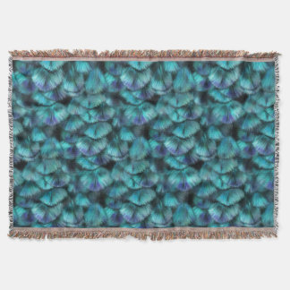 Goddess Isis Blue Feathers Throw Blanket