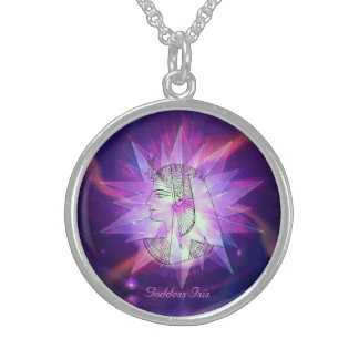 Goddess Isis Celestial Starburst Crystal Necklace! Sterling Silver Necklace