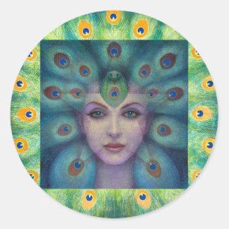 Goddess Isis the Seer Round Sticker