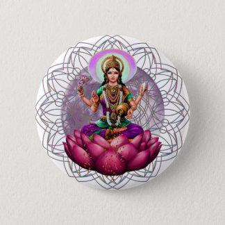 Goddess Lakshmi mandala 2 Inch Round Button