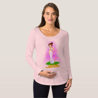 Goddess Maternity T-Shirt (Brown Hair)