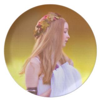 Goddess of Autumn Plate