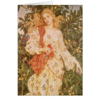 Goddess of Blossoms and Flowers, Flora by Morgan Card