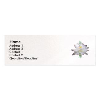 Goddess of Compassion Kanji Profile Card Mini Business Card