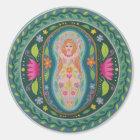 Goddess of Spring Mandala Classic Round Sticker