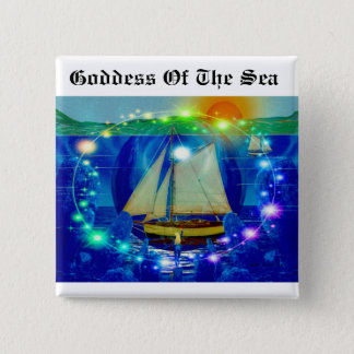 Goddess Of The Sea 2 Inch Square Button