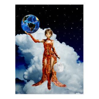 Goddess of Universe Postcard