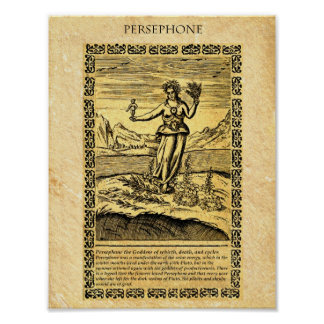 GODDESS PERSEPHONE POSTER